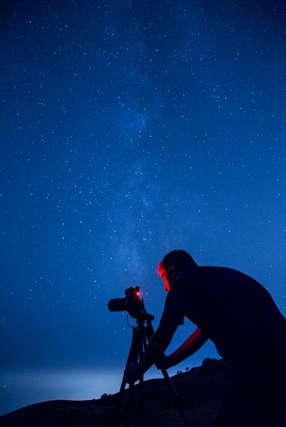 Juan Carlos bajo la Vía Láctea