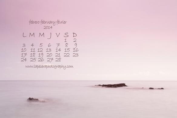 calendario febrero grande