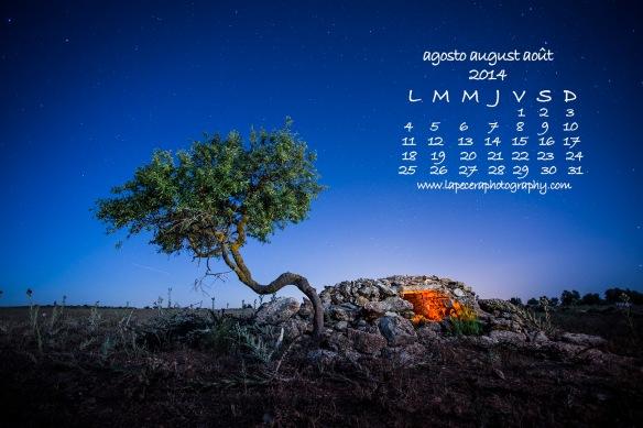 calendario agosto 2014