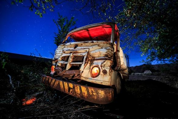 Camión abandonado Alquife