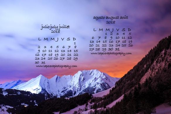 CalendarioJulioyAgosto2018