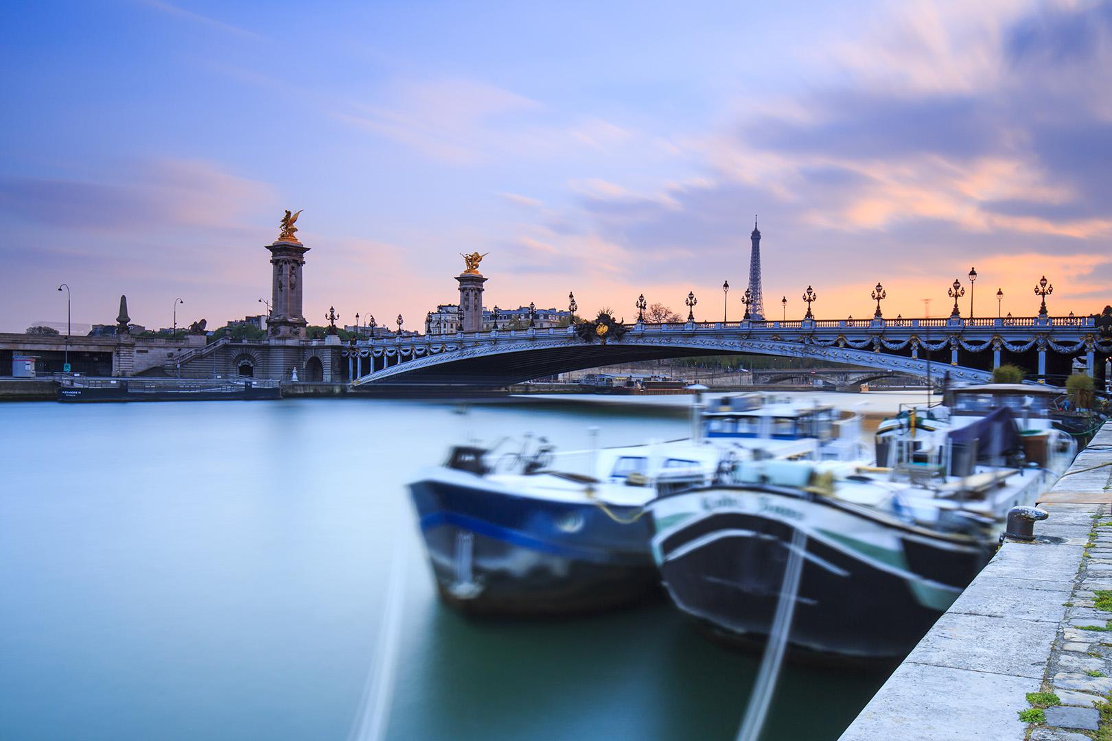 Atardecer en el Sena-París